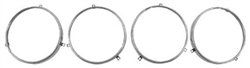 1967 - 1969 Headlamp Bulb Retaining Ring, Set of 4
