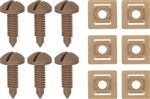 1982 - 1992 Light Saddle Firebird and Trans Am Interior Rear Hatch Cargo Trim Panel Screw and Plastic Nut Kit, 12 Piece Set