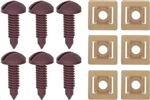 1982 - 1992 Maroon Firebird and Trans Am Interior Rear Hatch Cargo Trim Panel Screw and Plastic Nut Kit, 12 Piece Set