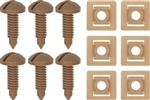 1982 - 1992 Beechwood Firebird and Trans Am Interior Rear Hatch Cargo Trim Panel Screw and Plastic Nut Kit, 12 Piece Set