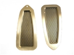 1968 - 1969 Firebird Door Jam Vent Louvers Billet Pair, Polished Finish