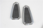 1968 - 1969 Firebird Door Jamb Air Vent Louvers, Billet Aluminum, Choice of Finish, Pair