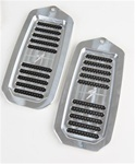 1970 - 1981 Door Jamb Air Vent Louvers, Billet Aluminum, Choice of Finish, Solid Center Bar, Pair