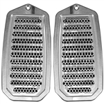 1970 - 1981 Firebird Custom Door Jamb Vent Louvers, Billet Aluminum, Choice of Finish, Pair