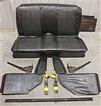1967 Firebird Fold Down Rear Seat Kit, Original GM Used