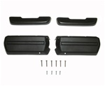 1969 Firebird Door Panel Arm Rests Kit, Standard Interior Black