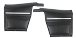 1968 Firebird Standard Interior Convertible Rear Side Panels - Pre-Assembled (PAD)