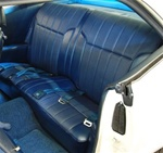 1969 Firebird Back Rear Seat Covers Upholstery Set for Deluxe Interior