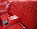 1977 Firebird Rear Seat Covers, Lombardy Cloth Deluxe Custom Interior