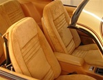 1978 Firebird Front Bucket Seat Covers, Deluxe Interior Lombardy Cloth