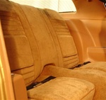 1978 Rear Back Seat Covers , Deluxe - Lombardy Cloth