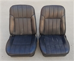 1968 Firebird Deluxe Interior Front Bucket Seats, Pair Original GM Used