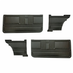1967 Coupe Standard Interior Front and Rear Door Panel Set, without Chrome