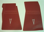 1967 - 1969 Firebird Factory Style Floor Mat Set, 4 Pieces in Red