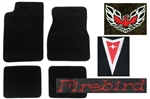 2001 Firebird or Trans Am Carpeted Floor Mats Set with Custom Embroidered Logos & Colors
