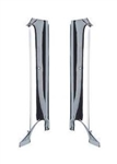 1967 Firebird Inner Pillar Post Trim Moldings, Convertible, Chrome, Pair