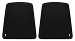 1967 - 1970 Firebird Front Bucket Seat Back Panels, Black, Pair