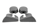 1985 -1992 Firebird Hatch Strut Cover Trim Kit, Gray, Pair