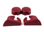 1985 -1992 Firebird Hatch Strut Cover Trim Kit, Red, Pair