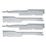 1967 - 1969 Firebird Door Jamb Sill Plate Under Carpet Wiring Harness Guard Cover Protectors Set, 4 Pieces