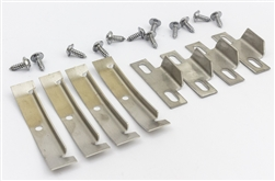 1978 - 1981 Camaro Stainless Steel Complete Fisher T-Top Retainer Clip and Tab Set with Mounting Hardware