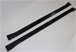 1967 - 1969 Firebird or Trans Am Carbon Fiber Style Door Jamb Sill Plates Set