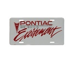 Pontiac We Build Excitement License Plate in White