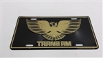 TRANS AM Hood Bird License Plate, Black and Gold