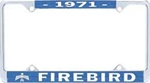 1971 Firebird License Plate Frame