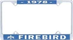 1978 Firebird License Plate Frame