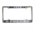 1979 Firebird License Plate Frame