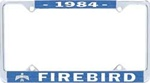 1984 Firebird License Plate Frame