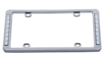Rear License Plate Frame with Back Up LED Lights