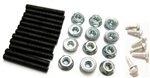 1970 - 1973 Firebird and Trans Am Tail Light Bezel Mounting Studs, Nuts and Screws Hardware Kit