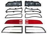 1970 - 1973 Tail Lights Kit: Housings, Lenses, Bezels, and Gaskets