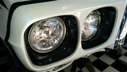 1969 Firebird TransAm Headlamp Light Bezel Outer Chrome LHGM 9796577