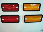 1970 - 1981 Firebird and Trans Am Side Marker Light Lamp Lens Kit with Installed Gaskets