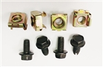 1967 - 1968 Firebird Headlight Housing Mounting Bracket Bolt and Push-in Nut Hardware Set