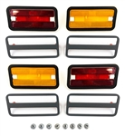 1970 - 1981 Firebird and Trans Am Side Marker Light Kit, Front And Rear