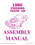 1980 Firebird and Trans Am Assembly Manual