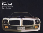 1972 Firebird and Trans Am Color Salesroom Dealer Brochure