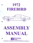 1972 Firebird and Trans Am Assembly Manual