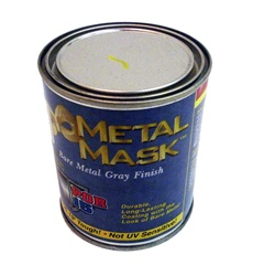 """Metal Mask"" Single Component Polyurethane Paint Coating - Bare Metal Gray Finish, 1 Pint"