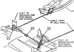 1970-1974 Camaro FirebirdTransAm Emergency Brake Cable Tension Spring