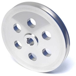 Billet Aluminum Pontiac Power Steering Pulley, Keyway Shaft