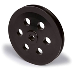 BLACK Anodized Billet Aluminum Pontiac Power Steering Pulley, Keyway Shaft