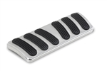 Lokar 1967 - 1969 Firebird Brushed Billet Aluminum Curved Automatic Brake Pad with Rubber Inserts