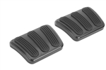 Lokar 1967 - 1969 Firebird Black Billet Aluminum Curved Brake and Clutch Pad Pair