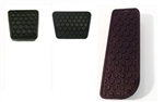 1982 - 1992 Firebird Gas, Brake, and Clutch Pedal Pad Cover Set for Manual Transmission with Hexagon Clutch Pad