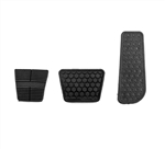 1982 - 1992 Firebird Gas, Brake, and Clutch Pedal Pad Cover Set for Manual Transmission with Ribbed Clutch Pad